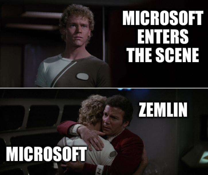 Microsoft enters the scene; Zemlin and Microsoft