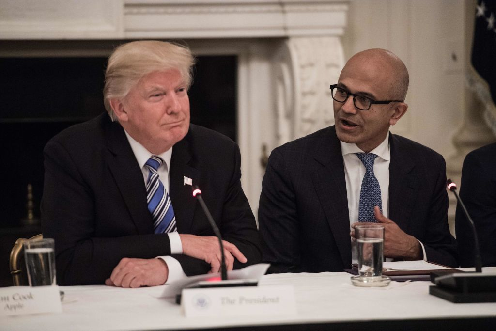 Trump and Nadella