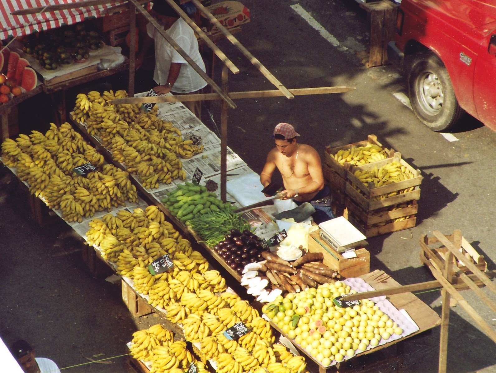 A banana market