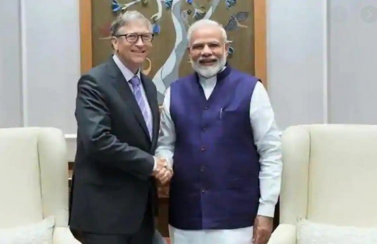 Bill Gates and Modi