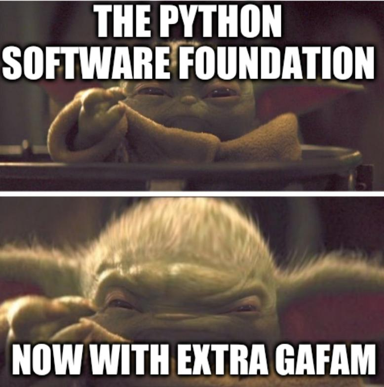 Baby Yoda Transition: The Python Software Foundation, Now with extra GAFAM