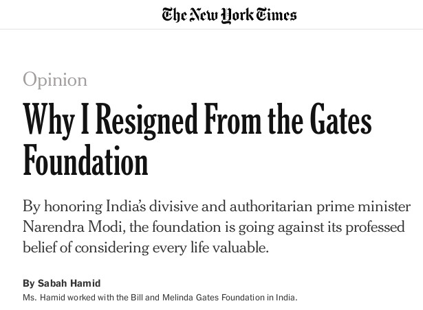 Gates Foundation Modi