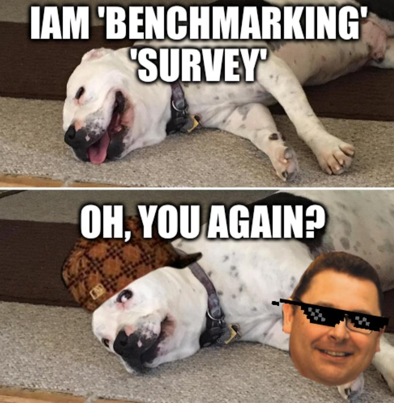 Telly side eye: Oh, you again? IAM 'benchmarking' 'survey'