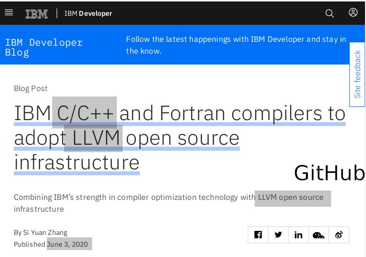 IBM for LLVM