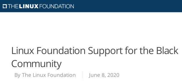 Linux Foundation Support for the Black Community