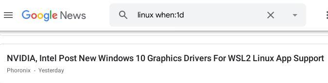Linux at Google News