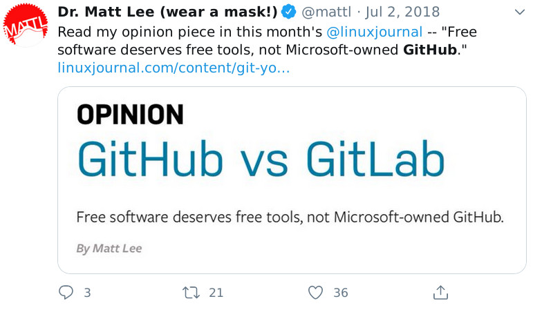 Matt Lee on Gitlab