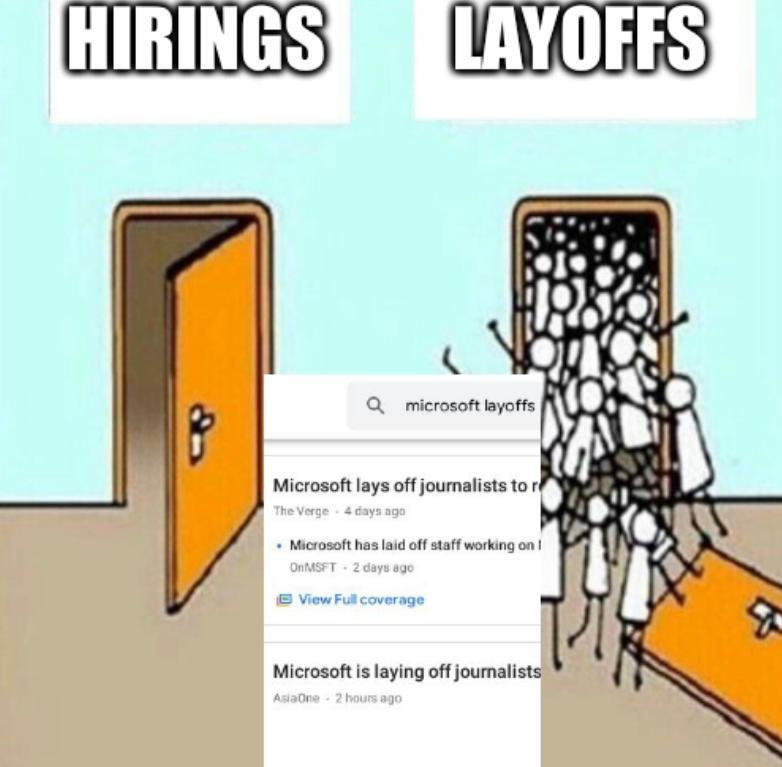 Two Doors: Hirings, Layoffs