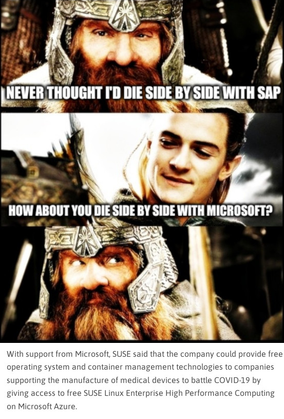 LOTR - Side by Side with a Friend: Never thought I'd die Side by Side with SAP... How about you die Side by Side with Microsoft?