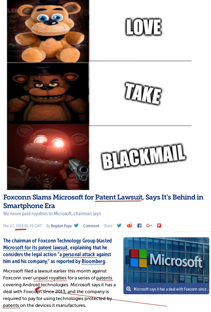 Freddy fazbear: Love, Take, Blackmail