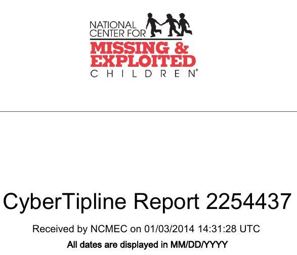 NCMEC Report