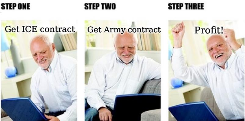 Get ICE contract; Get Army contract; Profit!