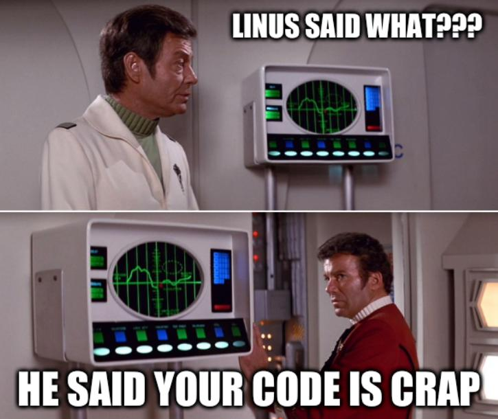 Linus Said what??? He said your code is crap