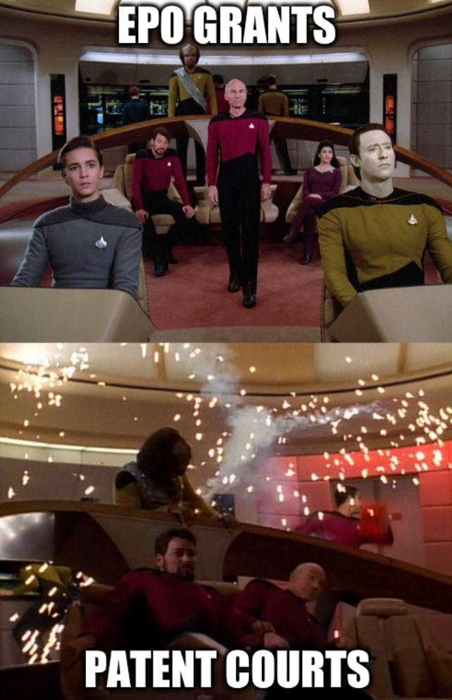 Star Trek explosion before and after: EPO Grants, Patent courts