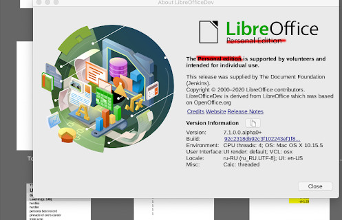 LibreOffice 'Personal Edition'