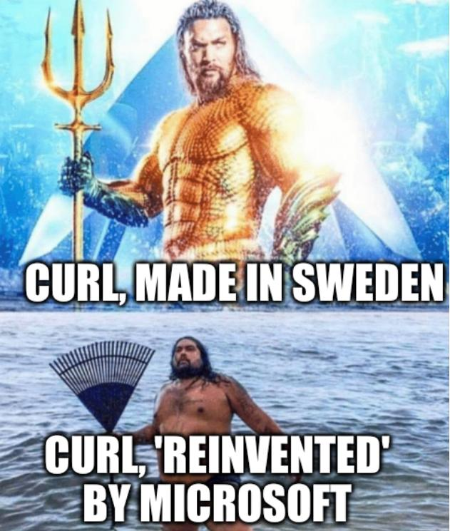 Aquaman: Curl, made in Sweden, Curl, 'reinvented' by Microsoft