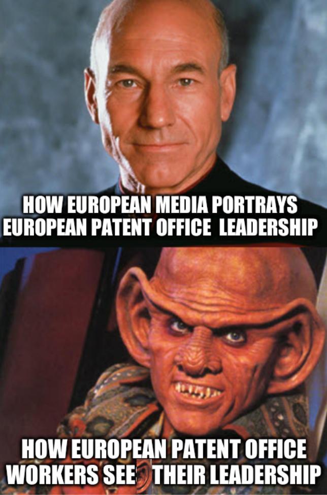 Star Trek captains: How European media portrays European Patent Office leadership; How European Patent Office workers see their leadership