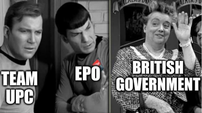 Team UPC; EPO; British Government
