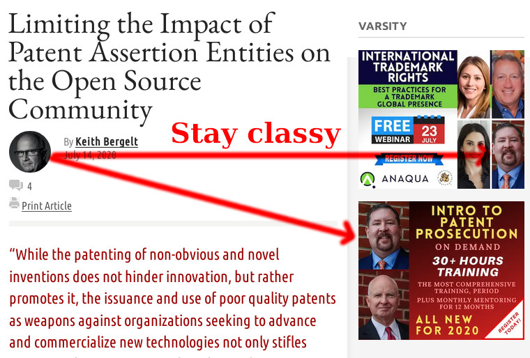 Keith Bergelt: Limiting the Impact of Patent Assertion Entities on the Open Source Community