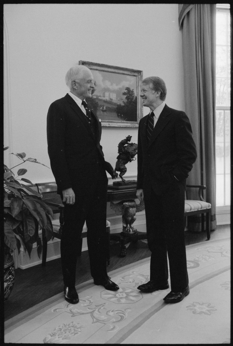 Watson with Jimmy Carter, January 20, 1978 (Public Domain)