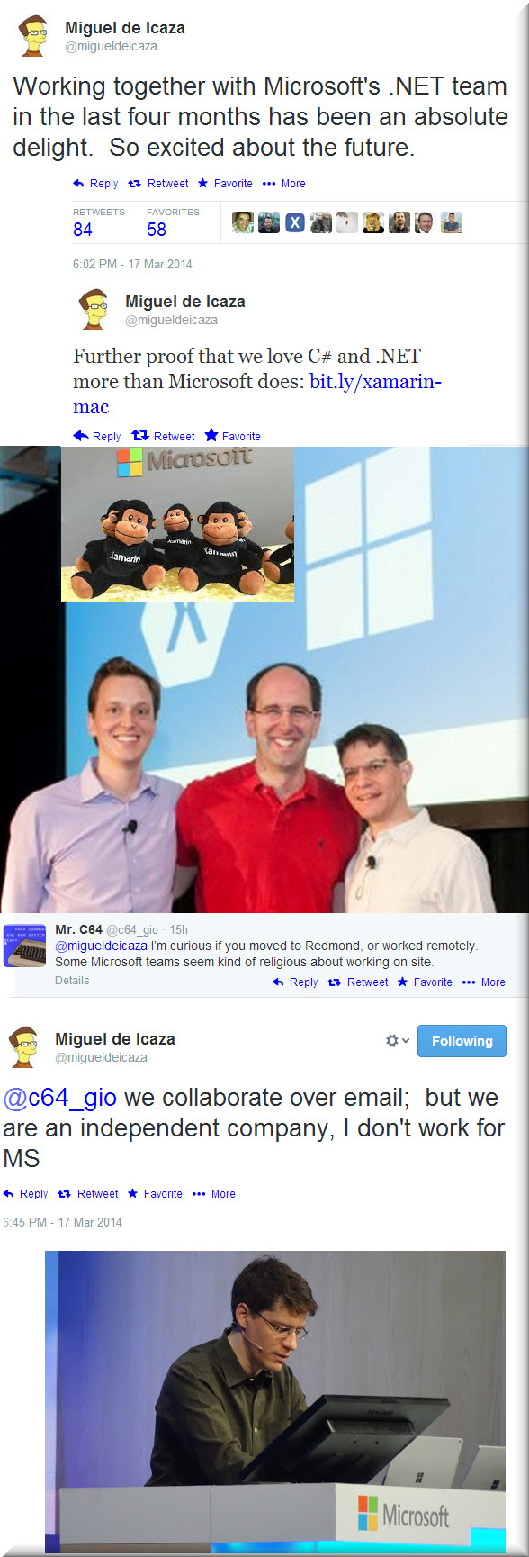 Microsoft and de Icaza