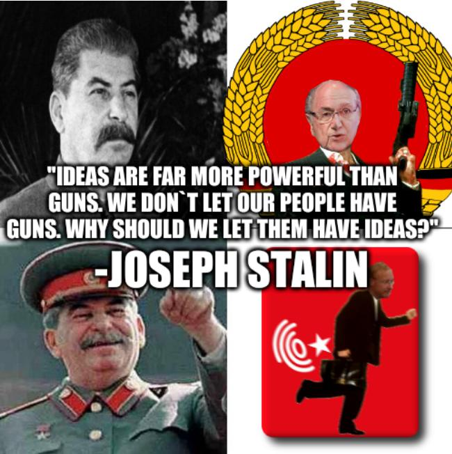Hotline Stalin: 'Ideas are far more powerful than guns. We don`t let our people have guns. Why should we let them have ideas?' -Joseph Stalin
