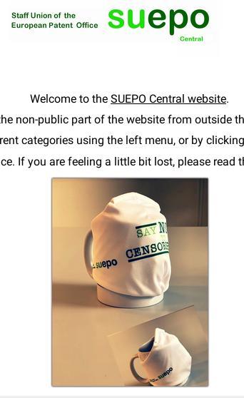 SUEPO censorship