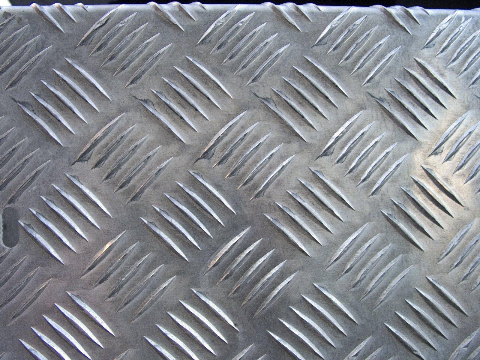 A texture of non-slip metal