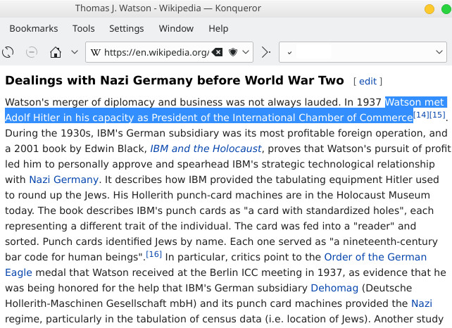 Thomas J. Watson and Hitler
