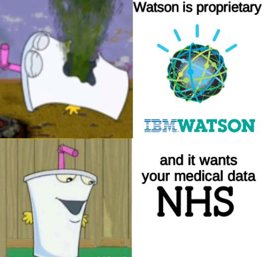 Master Shake Hotline bling: Watson is proprietary and it wants your medical data
