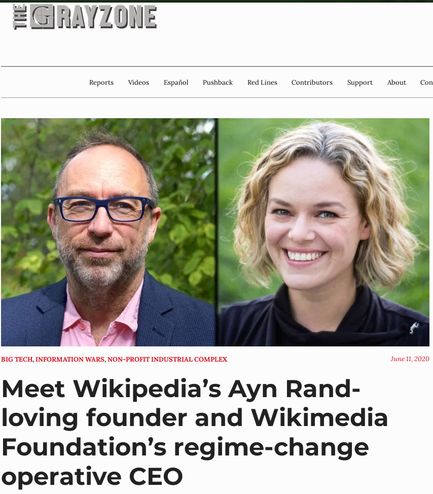 Meet Wikipedia's Ayn Rand-loving founder and Wikimedia Foundation's regime-change operative CEO