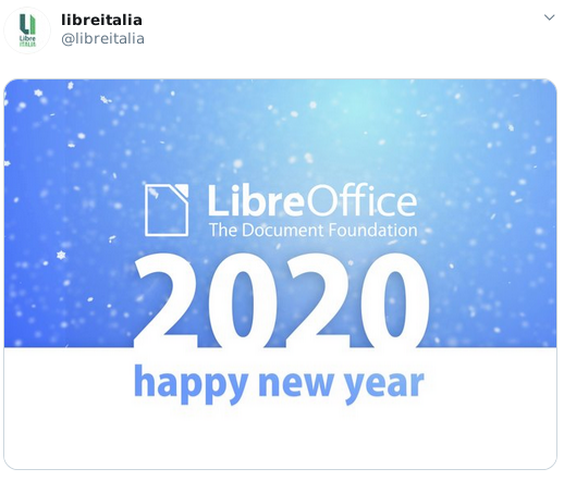 LibreItalia tweet