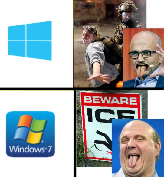 Drake Hotline Bling (Windows Version): beware-of-ice-trump-ss and Satya Ballmer
