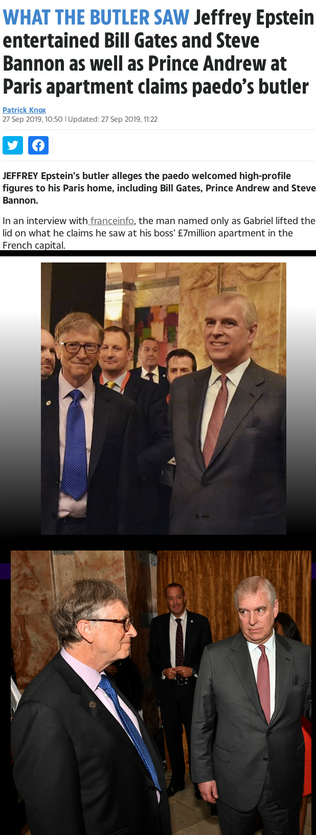 Bill Gates and Prince Andrew