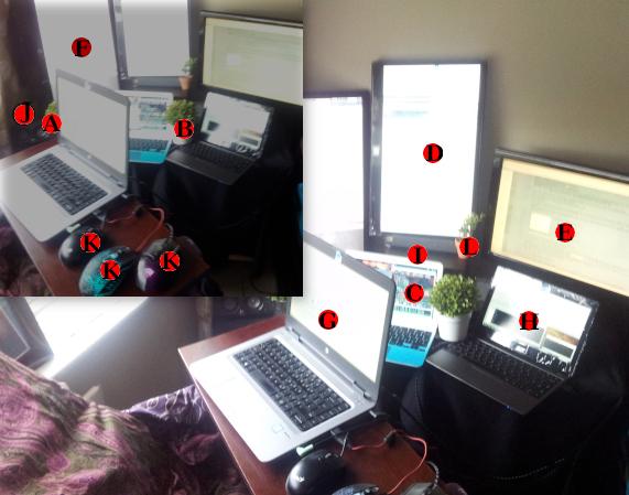 My desk setup - August