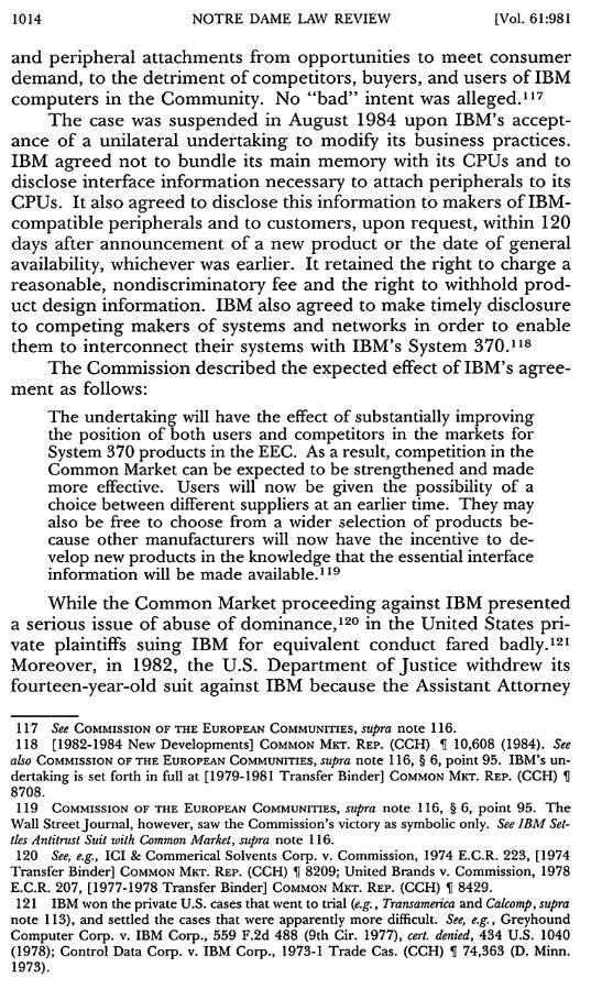 Ibm antitrust