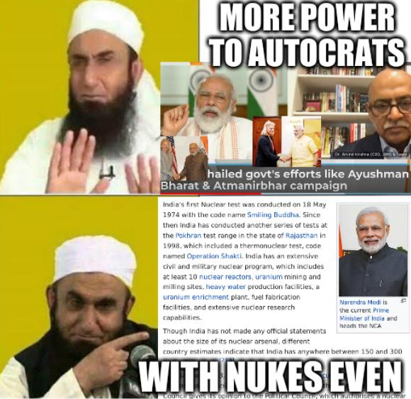 Tariq Jameel hotline: More power to autocrats, with nukes even