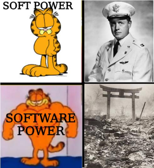 Drake Hotline Bling (Garfield Version): Soft power and software power