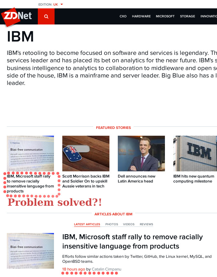 IBM versus words