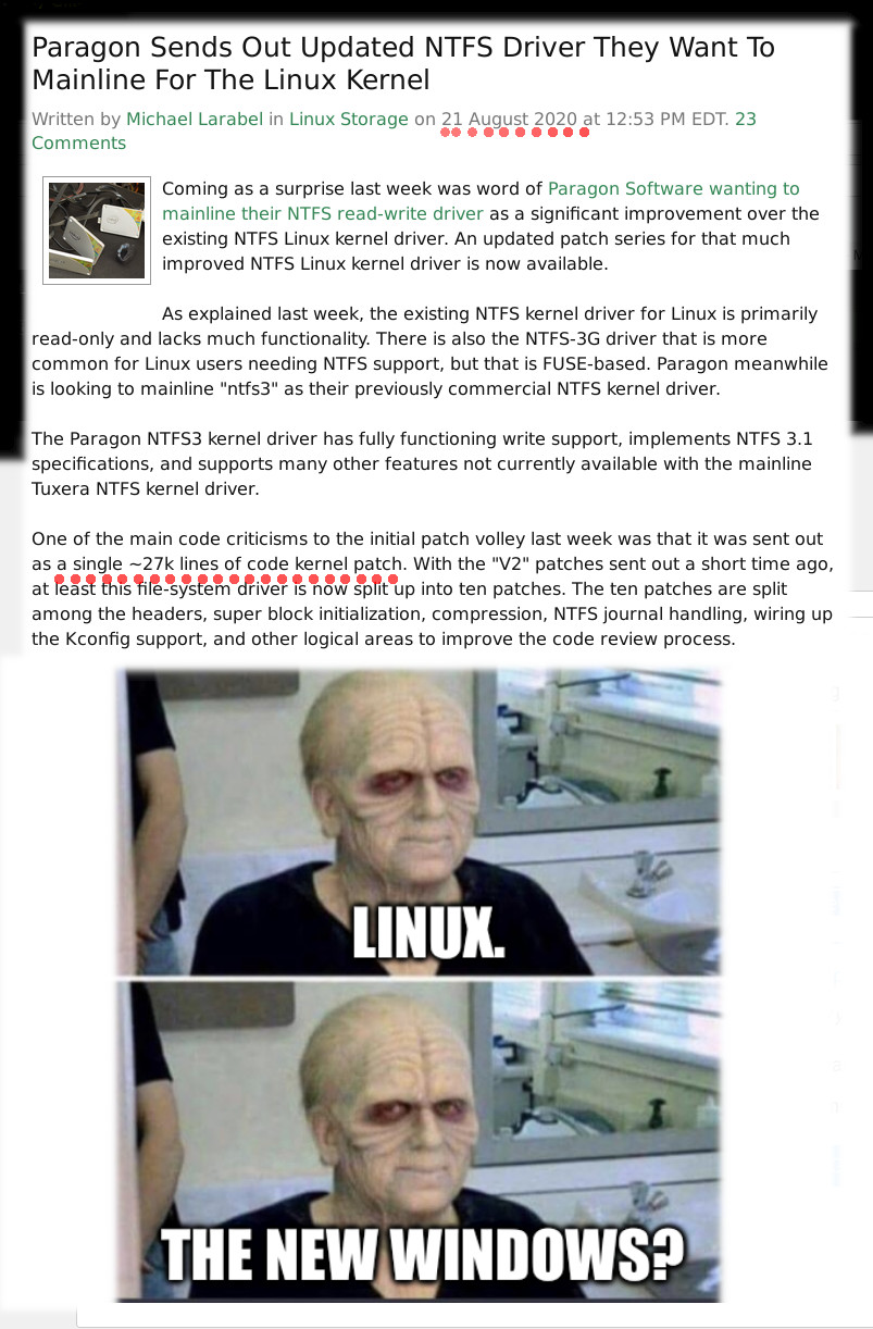 Sidious mask: Linux. The new Windows?