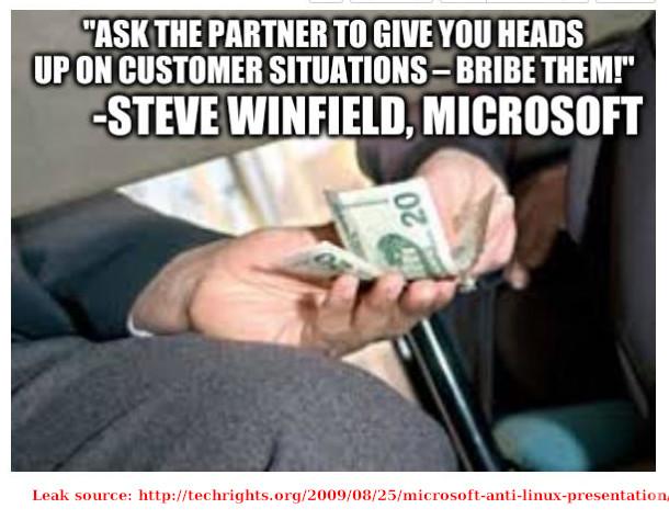 Microsoft on bribes