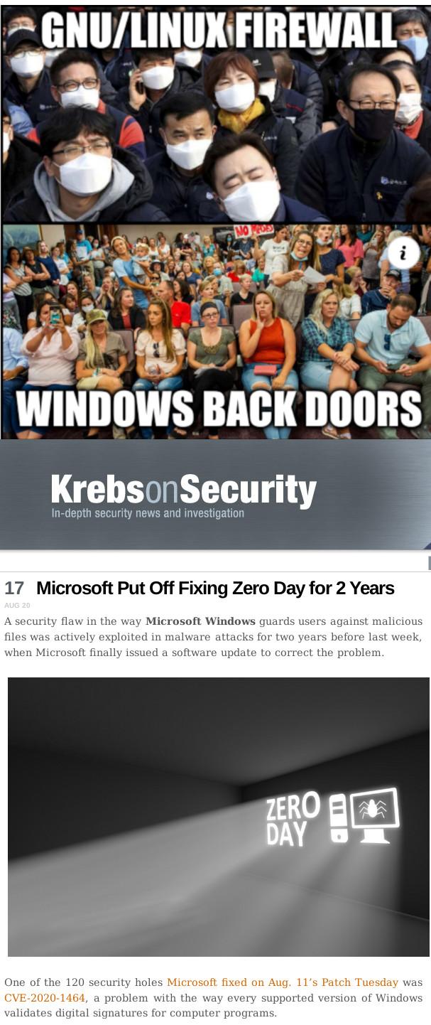 Smart and stupid: GNU/Linux Firewall, Windows back doors