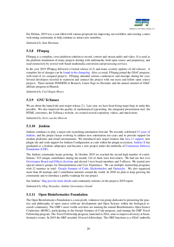 SPI report sample page #11