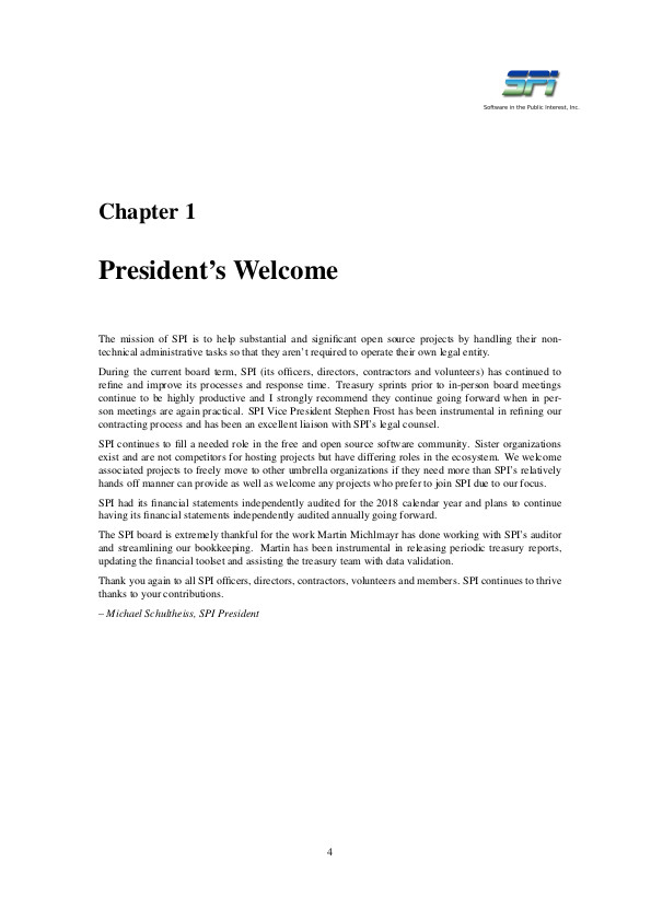 SPI report sample page #2