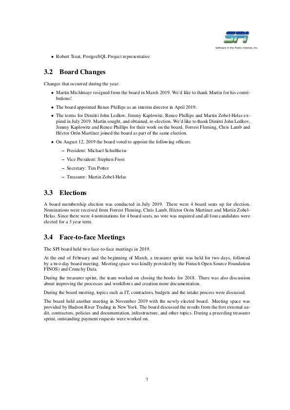 SPI report sample page #4