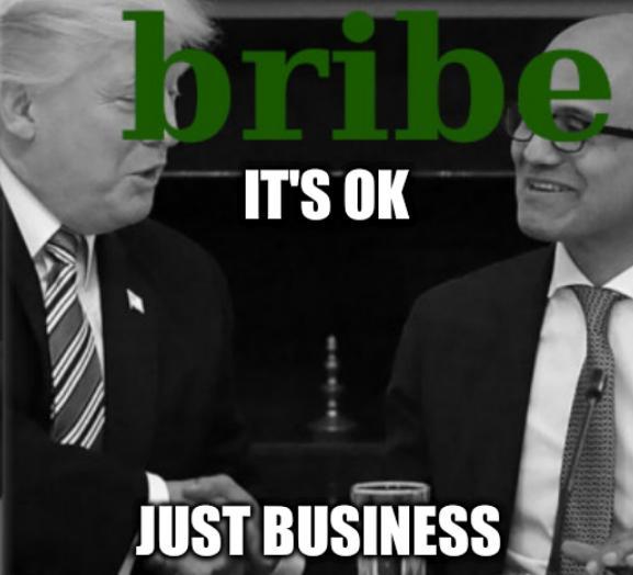 Trump and Microsoft