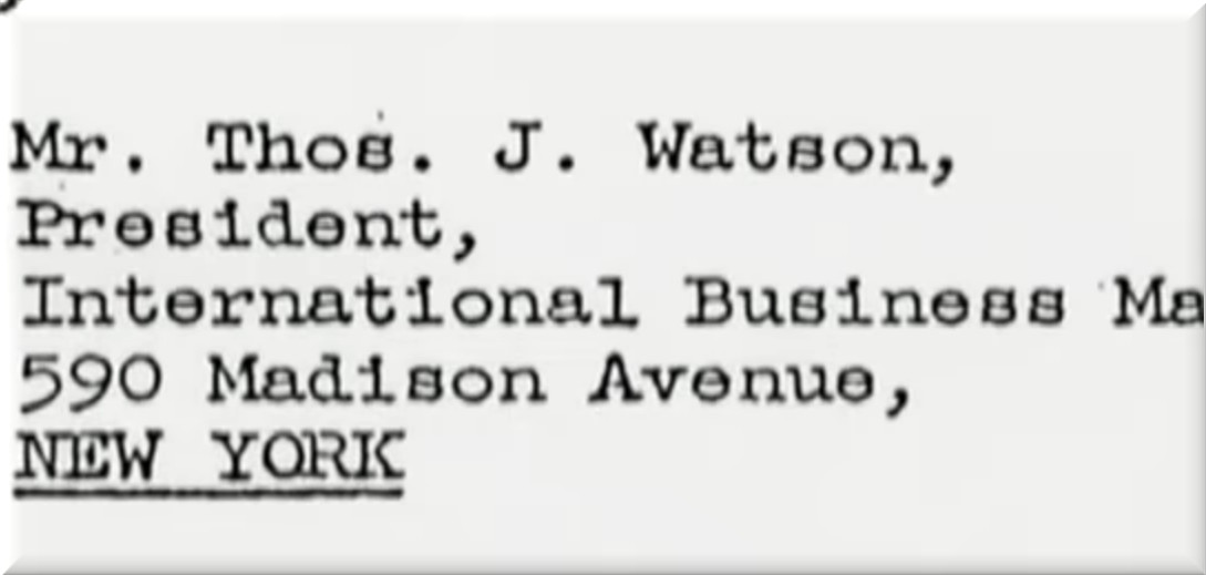 1941 Watson letter