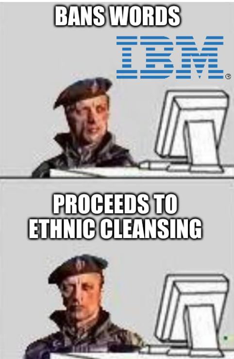 Bans words, proceeds to ethnic cleansing