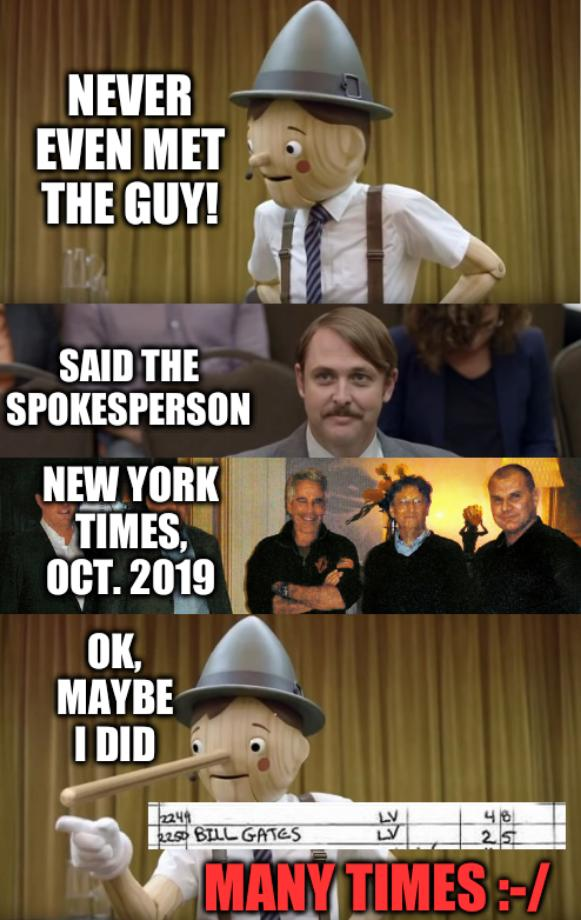 Pinocchio motivational speaker: Never even met the guy! Said the spokesperson. New York Times, Oct. 2019. OK, Maybe I did. Many times :-/