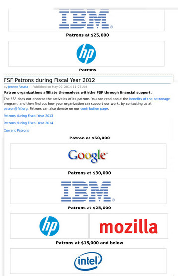 FSF patron IBM